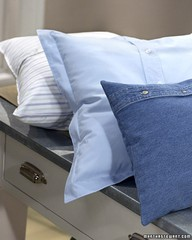 Courtesy of Martha Stewart: www.marthastewart.com/271811/blue-shirt-pillow
