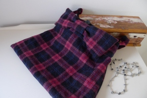 Upcycled tweed skirt