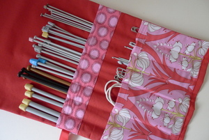 Knitting needle cases