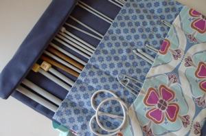 Knitting needle cases